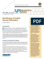 Recidivism of Adult Sexual Offenders
