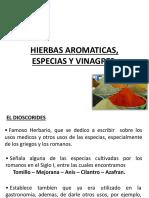 Hierbas, Especias y Vinagre