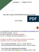 Cours Mecanique Quantique I VII