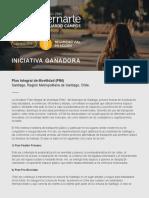 PLAN INTEGRAL DE MOVILIDAD SANTIAGO DE CHILE_´PREMIO