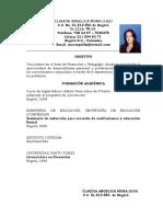 Hoja de Vida Claudia 2013 - 2014 Borrada