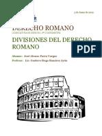 Divisiones Del Derecho Romano