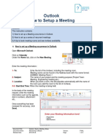 Outlook How-To Meeting Setup