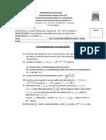 c III 19 1ª 2ª Chamada Cálculo III