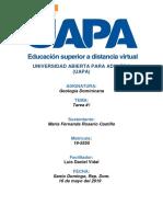 Tarea I de Geologia Dominicana.Actitud Center