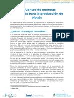 2.1 Las Fuentes de Energías Renovables Para La Producción de Biogás