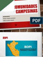 Comunidades Campesinas.