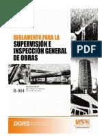 DOMINICANA Reglamento Para La Supervisión e Inspección General de Obras