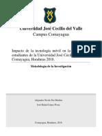 Impacto de La Tecnología Móvil en La Vida de Los Estudiantes de La Universidad José Cecilio Del Valle
