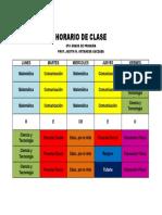 HORARIO DE CLASE 6to grado.docx