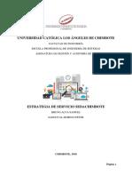 Estrategia de Servicio SEDACHIMBOTE SA
