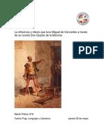 La influencia y efecto que tuvo Miguel de Cervantes a través de la novela Don Quijote