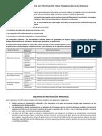 Equipos y Accesorios de Protección Para Trabajos de Electricidad