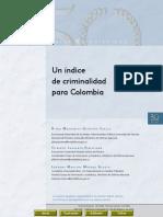 Indice de Criminalidad para colombia