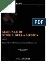 Surian Man. Storia Della Musica-LE FONTI, I, Pp. 1-20
