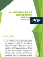 El Divorcio en La Legislacion Peruana