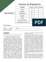 6to Grado - Examen de Diagnóstico