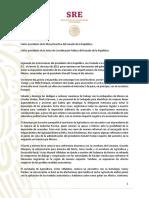 Informe de Marcelo Ebrard para el Senado