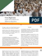 Foros Regionales - Leyes Secundarias V2