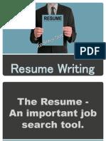 Resume Writing Powerpoint[1]
