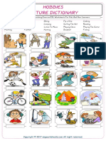 Hobbies Vocabulary Matching Exercise ESL Worksheets for Kids and New Learners 9998