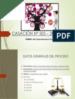 CASACIÓN N° 505 – 2016 – LIMA