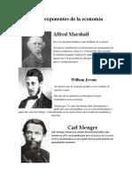 Principales Exponentes de La Economía Neoclásica