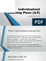 Special Education Individualized Learning Plan