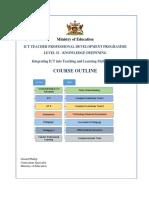 ict teacher prof dev prog course outline  april 2019
