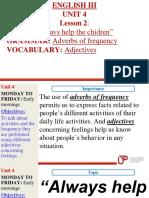 English 3- Unit 4- Lesson 2