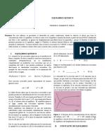 equilibrio quimico, informe