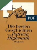 Patricia Highsmith-Die Besten Geschichten Von Patricia Highsmith-Diogenes Verlag 1984