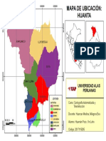 Cartografia Mapa Politico Provincia de Huanta 2010