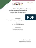 Mejía R. Vladimir- Investigación Juchitán