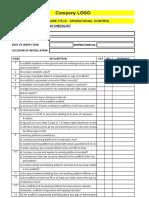 Scaffolding Checklist