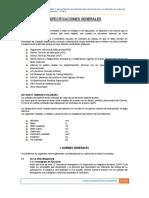 1.0 Especificaciones Generales