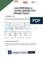 Railways RRB Stage 3 Psychometric Aptitude Test Sample Paper