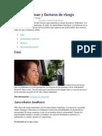 2. Causas y Factores de Riesgo