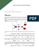 Quantitative Estimation of Amino Acids by Ninhydrin