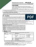 JIR-301MInstructionManual