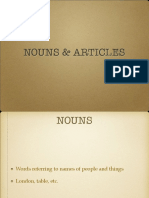 Nouns and Articles