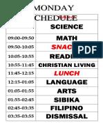 Big Schedule