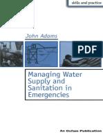 Managing Water Sanitation Emergencies