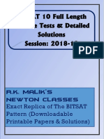 BITSAT 2019 Practice Tests & Detailed Solutions.pdf