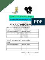 Fitxa Inscripció 2019 - 2020