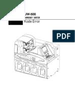 Kode Error UW-500