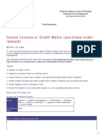 Create Invoice or Credit Memo Purchase Order Related Converted