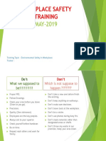 Workplace Safety Training May 2019