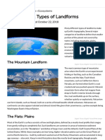 The Different Types of Landforms New