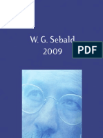 Brochure hommage d'Acte Sud - W.G. Sebald